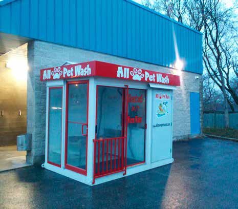 Myjnia dla psów sieci All Pet Wash (USA).